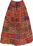 Printed Cotton Boho Long Skirt