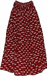 Falu Red Hippie Cotton Long Skirt