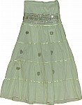Olivine Sequin Long Skirt