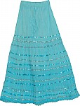 Fountain Blue Sequin Skirt