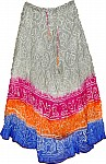 Indian Tie Dye Skirt