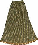 Bronzed Olive Ethnic Skirt