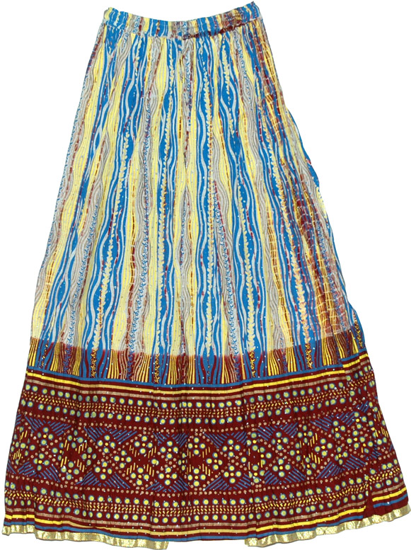 Bright Colorful Long Skirt - Sale on bags, skirts, jewelry at ...