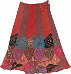 Medium Carmine Boho Skirt