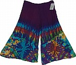 Tie Dye Cotton Gaucho Pants