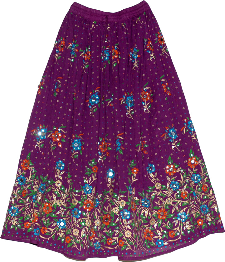 Wedding princess festive long skirt, Bossanova Brazilian Sequin Skirt