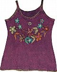 Purple Finn Summer Top With Applique