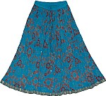 Bondi Blue Dance Crinkle Skirt