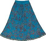 Bondi Blue Short Crinkle Skirt