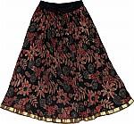 Short Black Floral Skirt