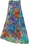 Tie Dye Wrap Cotton Skirt
