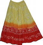 Cotton Summer Skirt with Sequin