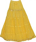 Marigold Sequin Long Skirt