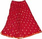Maroon Flush Short Crinkle Skirt