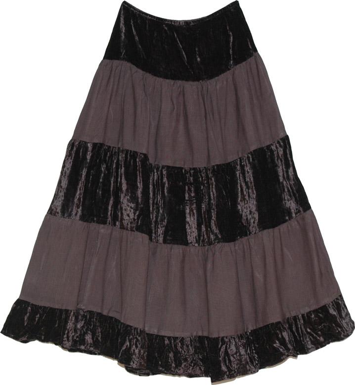 Brown Velvet Skirt 89