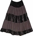 Woody Brown Velvet Skirt