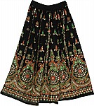 Sequin Skirt with Green and Orange
