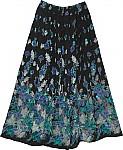 Spring Garden Kashmir Blue Skirt