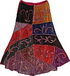 Crimson Winter Skirt in Velvet