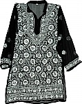 Black White Tunic Top Summer Shirt