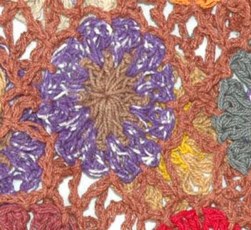 Lavender Crochet Cotton Skirt