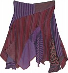 Eggplant Fringed Winter Skirt