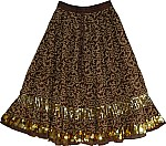 Irish Coffee Long Dance Skirt