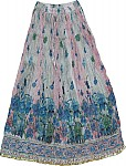 Shaded Floral Long Skirt