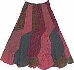 Floral Print Long Skirt