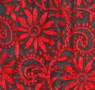 Black Red Ladies Tunic Shirt
