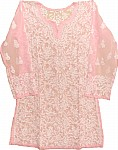 Baby Pink Ladies Tunic Top