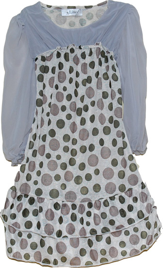 Flirtatious Chiffon Polka Dot Dress, Sexy Summer Brown Polka Dot Short Chiffon Dress