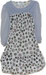 Sexy Summer Brown Polka Dot Short Chiffon Dress