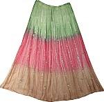 Summer Long Skirt with Mirrorwork