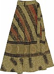 Shadow Shaded Wraparound Skirt