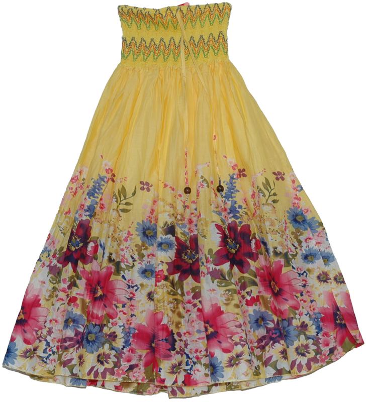 colorful yellow maxi dress smock skirt clothing dress