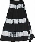 Black Tie Dye Skirt Wrap