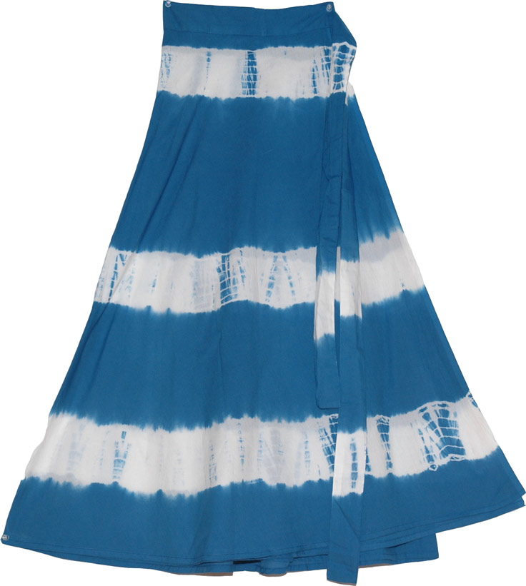 St Tropaz Tie Dye  Summer Skirt -  :  tie die sexy skirt plaid skirt long skirt