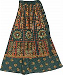 Aztec Long Wrap Around Skirt
