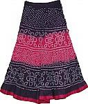 Thunder Tie Dye Long Skirt