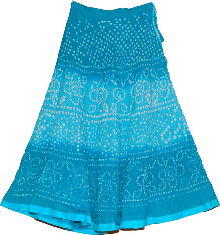chilled blue tie dye summer skirt clothing tie dye