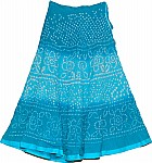 Chilled Blue Tie Dye Summer Skirt
