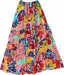 Bohemian Floral Cotton Summer Skirt