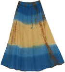 Sunset Horizon Casual Long Skirt