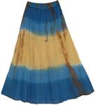 Sunset Horizon Casual Long Skirt