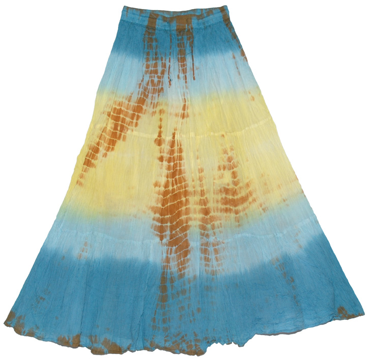 Sunset Horizon Casual Batik Skirt