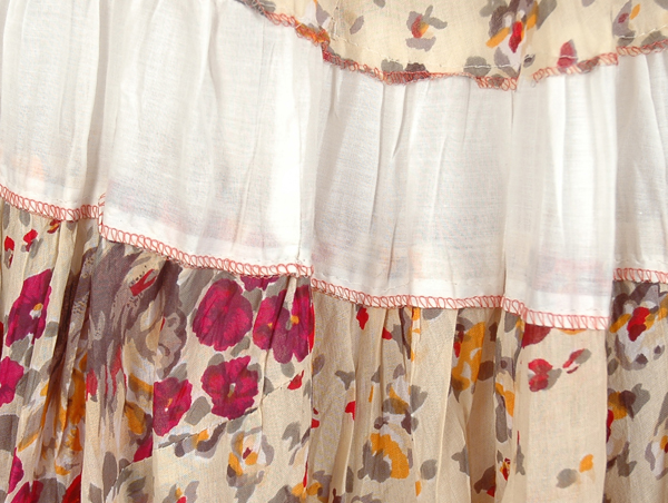 Broomstick Cotton Skirt Spring Charm