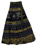 Pesto Bohemian Wrap Around Long Skirt