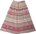 Indian Long Skirt Floral Printed
