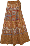 Rope Bohemian Wrap Around Long Skirt